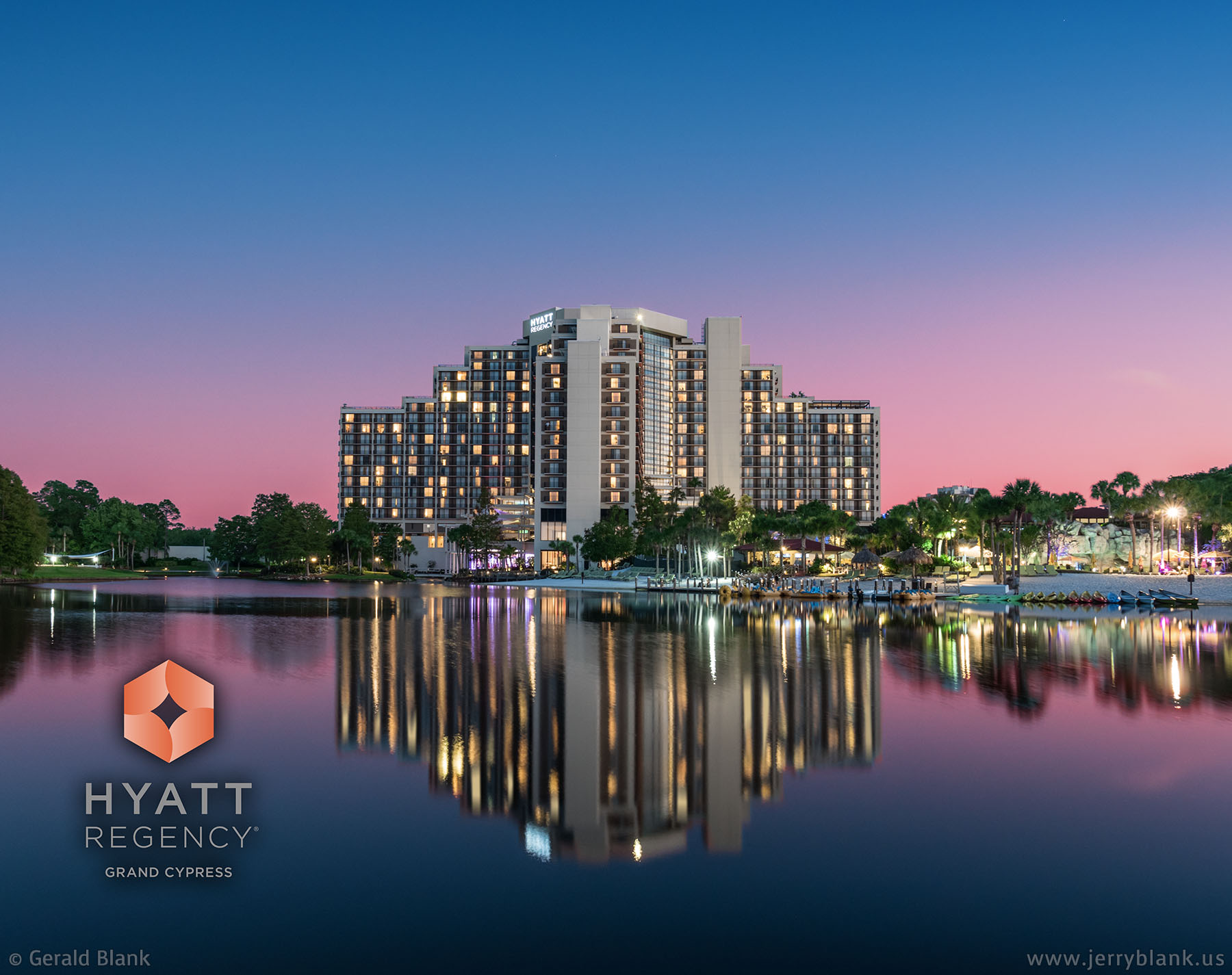 #JB102703 - The Hyatt Regency Grand Cypress Resort, located just north of Disney World in central Florida - photo by Jerry Blank