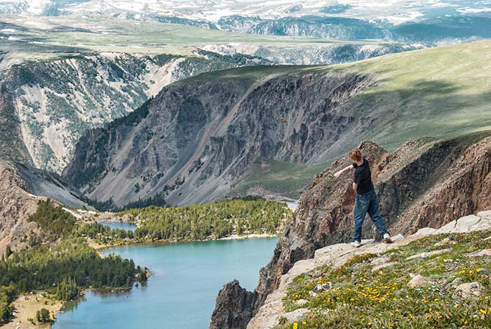 #00509 - Twin Lakes, on the Montana-Wyoming border just north of Beartooth Pass, Wyoming - photo by Jerry Blank