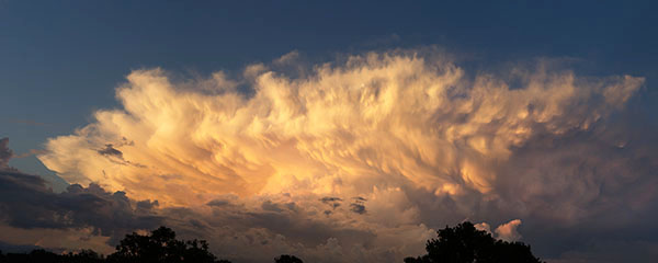 Storm clouds at sunset, in central Florida - photo by Jerry Blank