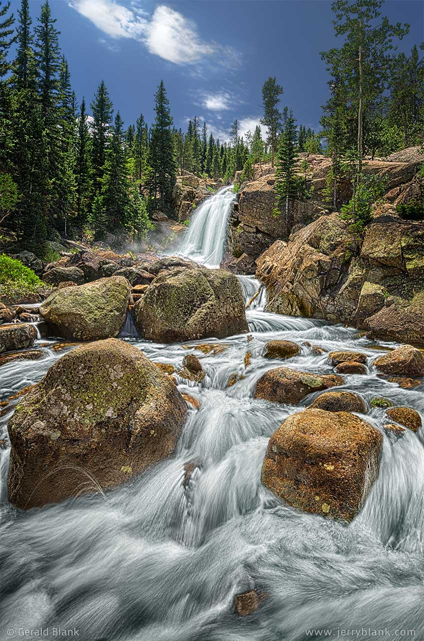 #22607 - Alberta Falls, in Glacier Gorge, Rocky Mountain National Park, Colorado - photo by Jerry Blank