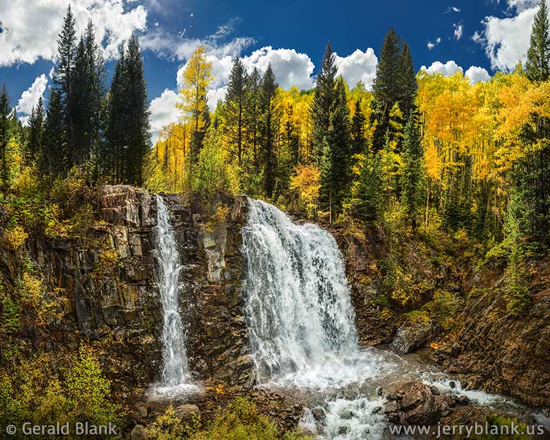 #48830 - Upper Ames Falls on Lake Fork Creek, above Ames, Colorado - photo by Jerry Blank